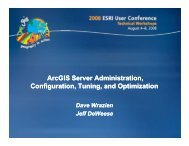 ArcGIS Server Administration, Configuration, Tuning, and Optimization