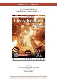 Persdossier 2013 - Open kerken