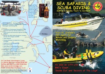 Boat Charter and Diving Brochure - Activity Holidays Northern Ireland