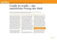 Cradle-to-cradle – das natürlichste Prinzip der Welt - wirks