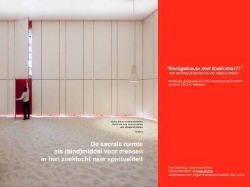 Sacrale ruimte - Tom Callebaut - Open kerken