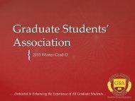 Graduate Students' Association - Faculty of Graduate Studies