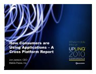 C How Consumers are Using Applications – A C Pl tf R t ... - Uplinq