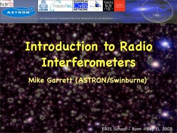 General Introduction to Radio Interferometers - Mpifr-bonn.mpg.de