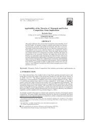 Applicability of the Theories of Monopoly and Perfect Competition ...