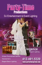 Click here for wedding brochure - Party Time Productions