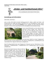 """""""Kinder- und Familienfreizeit 2011"""" - Propstei St. Johann"""