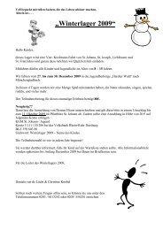 """Winterlager 2009"" - Propstei St. Johann"