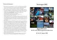 Norwegen 2012 Jugendfreizeit - Kirche-meinersen