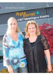 I CWT Meetings & Events transport-sektion sidder Karina Senika og ...