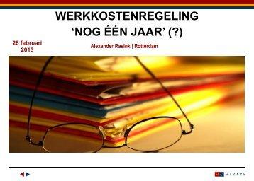 werkkostenregeling | alexander rasink - Kvgo