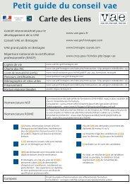 Petit guide du conseil vae Carte des Liens - Le conseil VAE en ...