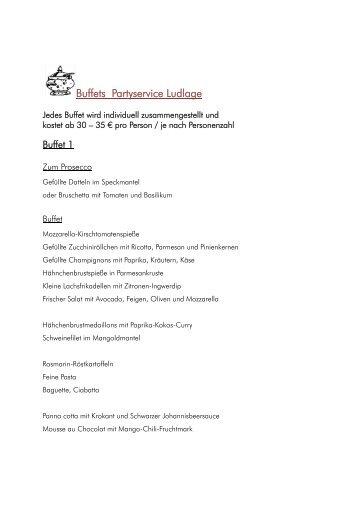 Buffet Beispiele - Partyservice Hildegard Ludlage