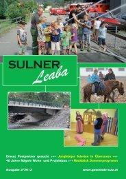 Gemeindezeitung 2/12 - Gemeinde Sulz