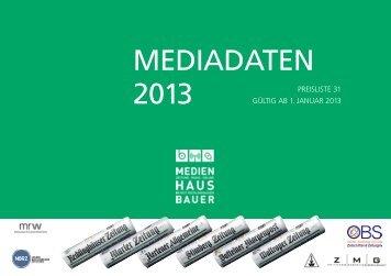MEDIADATEN 2013 - Recklinghaeuser Zeitung