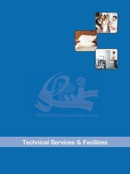Technical Services & Facilities - Central Drug Research Institute