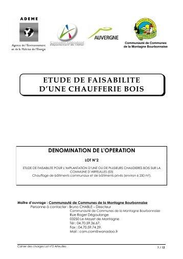 ETUDE DE FAISABILITE D'UNE CHAUFFERIE BOIS - Communauté ...