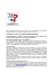 Après le passage au tout numérique de Canal + le 2 juin 2010, la ...