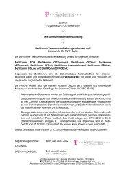 Zertifikat T-Systems-DPZ-CC-05089-2002 zur ... - T-systems-zert.de