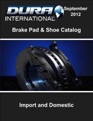 Brake Pad & Shoe Catalog