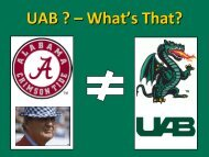 UAB School of Engineering - UTC