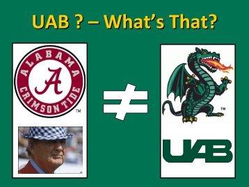 UAB School of Engineering - UTC