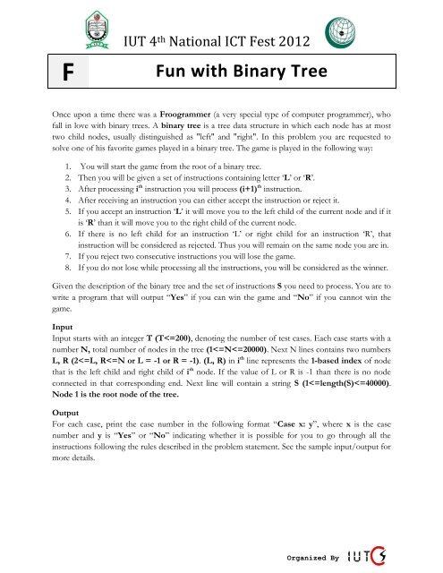 F) Fun with Binary Tree - UVa Online Judge
