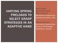 Varying Spring Preloads - Stanford University