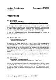 Landtag Brandenburg Drucksache 5/5847