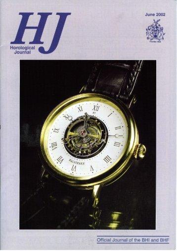 Horological Journal - Haldimann Horology