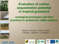 Evaluation of carbon sequestration in tropical grassland ... - Inra