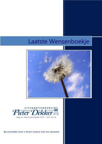 Laatste Wensenboekje - Dekker Uitvaart