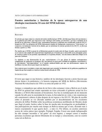 "Loren GOLDNER: ""ANTI-CAPITALISMO O ANTI-IMPERIALISMO ..."