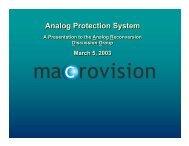 Macrovision Analog Protection System