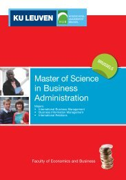 Master of Science in Business Administration