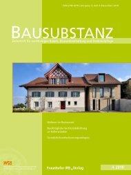 Bausubstanz 4/2010 - Architekt Helmle, Ellwangen