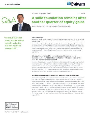 Voyager Fund Quarterly Commentary - Putnam Investments
