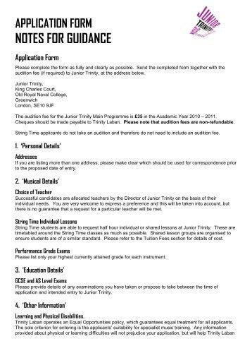 Application Form 1 Personal Details 2 Chosen Laban
