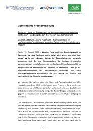 Pressemitteilung vom 13.08.2013 - Deutscher Hausärzteverband ...