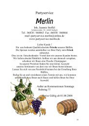 Kalt – warmes – Büffet Saarlouiser Art - Partyservice Merlin