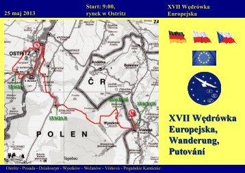 XVII Wędrówka Europejska, Wanderung, Putování - Bogatynia