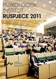psykologisk institut ruspjece 2011 - For Studerende - Aarhus ...