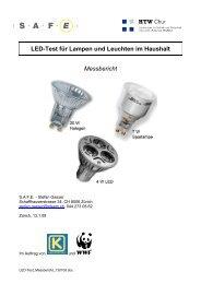 LED-Test für Lampen und Leuchten im Haushalt ... - toplicht.ch