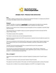 drama post- production initiative - South Australian Film Corporation