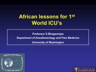 African lessons for 1stWorld ICU's
