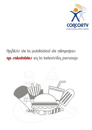 Análisis de la publicidad de alimentos no saludables en ... - Concortv