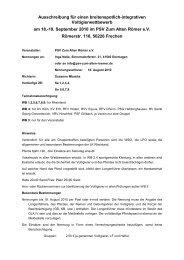 19. September 2010 im PSV Zum Alten Römer eV - Voltigieren ...