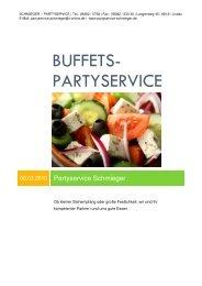 BUFFETS- PARTYSERVICE - Schmieger - Partyservice