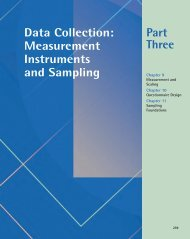 Part Three Data Collection: Measurement Instruments and Sampling