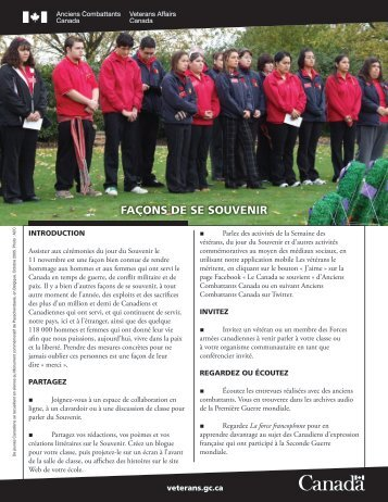 Version PDF - Anciens Combattants Canada